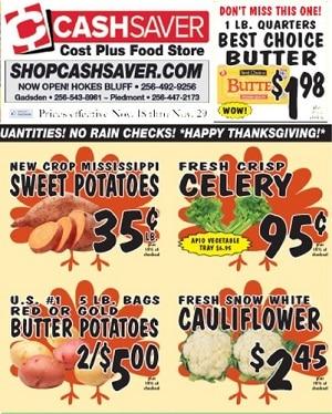 Cash Saver Weekly Ad 11/18/2020 – 11/29/2020