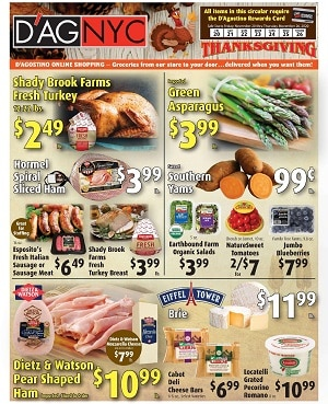 D'Agostino Weekly Ad 11/20/2020 – 11/26/2020