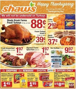 Shaw's Weekly Circular 11/20/2020 – 11/26/2020