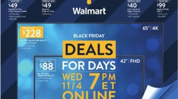 Walmart Black Friday Ad Deals 11/04/2020 - 11/08/2020