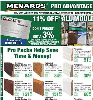 Menards Weekly Ad 11/15/2020 – 11/25/2020